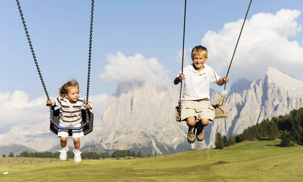 Familenurlaub auf der Seiser Alm wird Ihnen und Ihren Kindern Freude bereiten